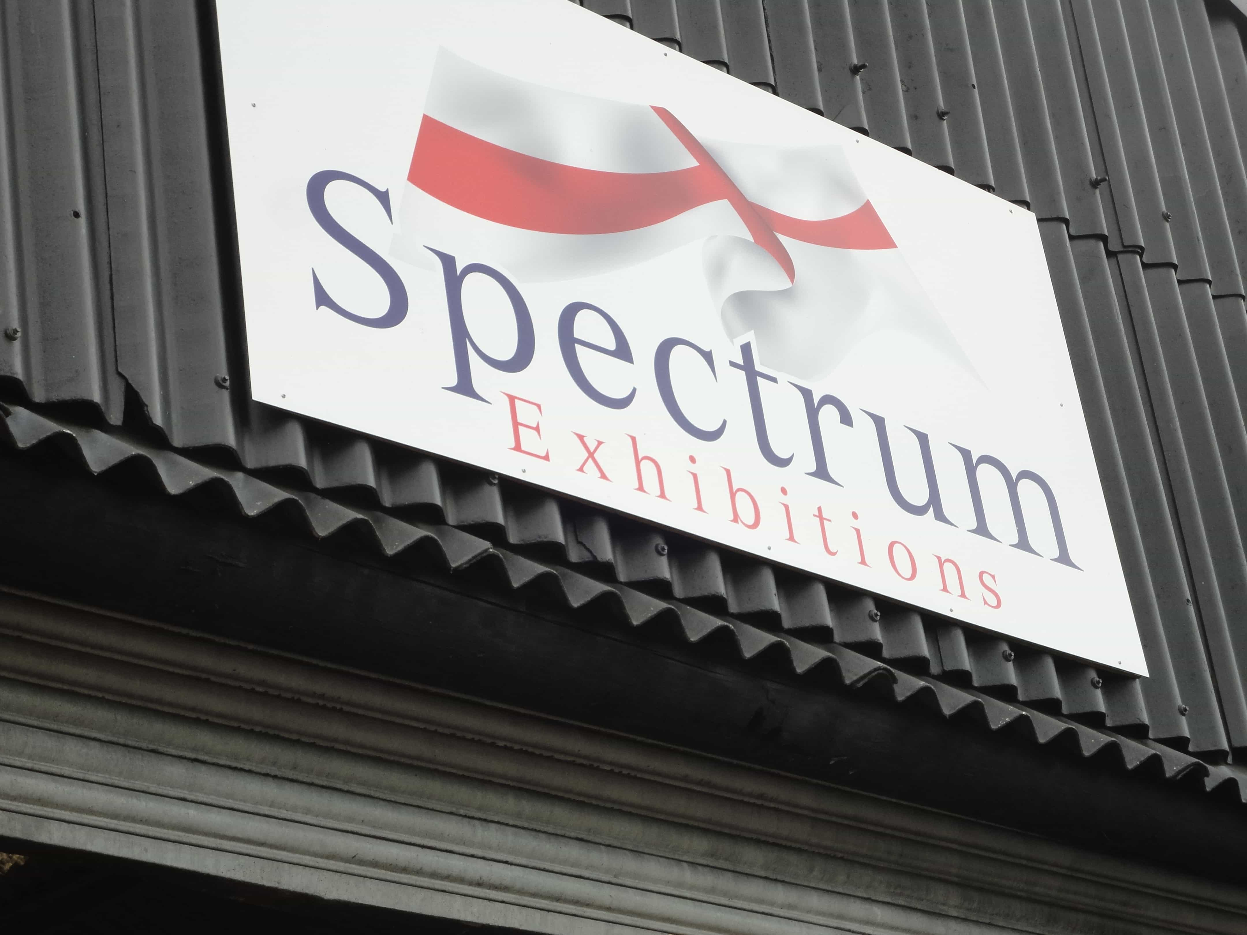 Spectrum Exhibitions Sign