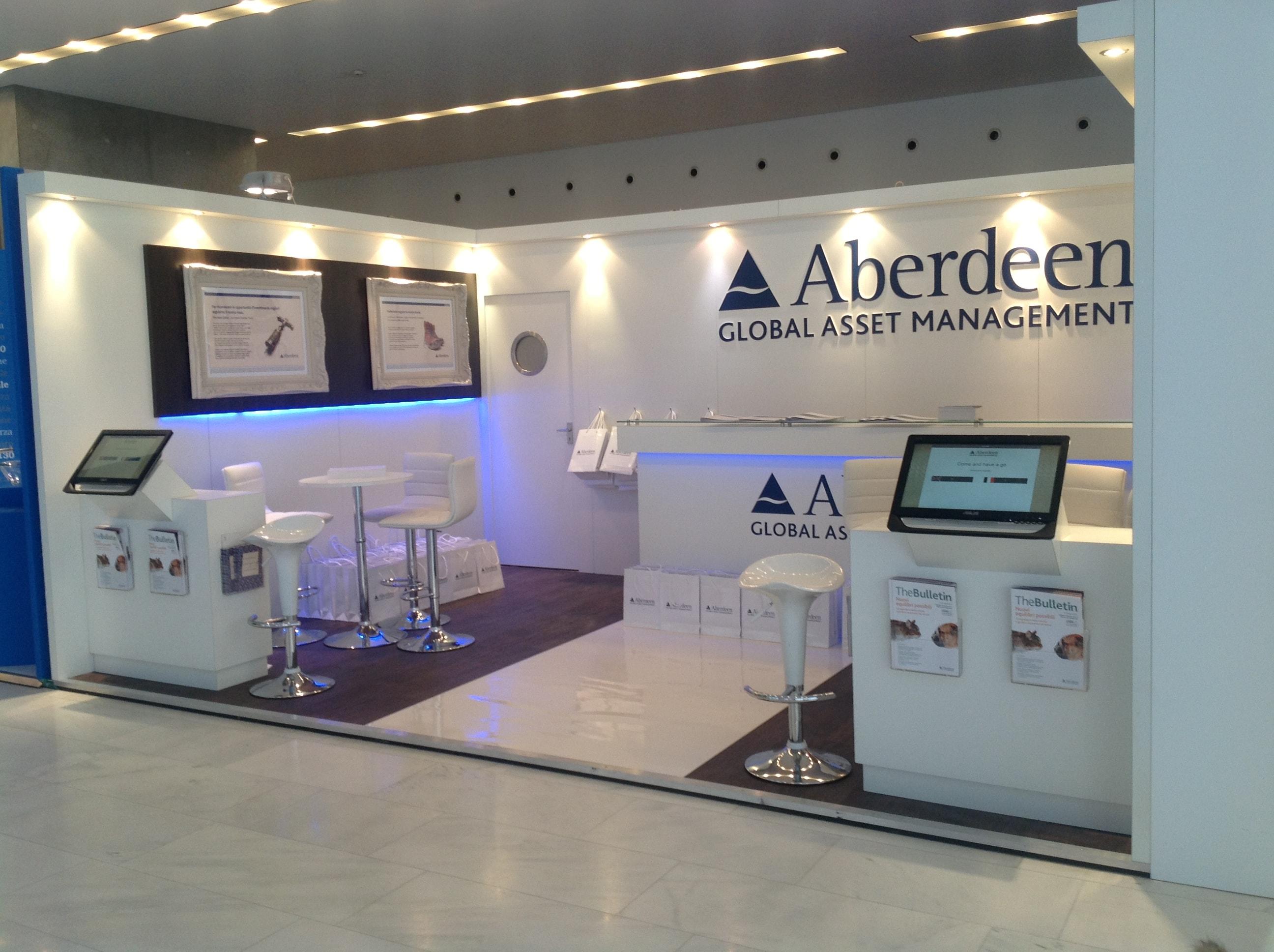 Exhibition Stand Design Aberdeen : Aberdeen global asset management milan display stand