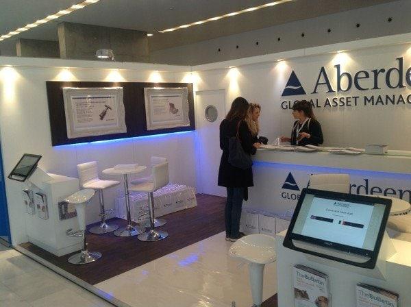 Aberdeen Global Asset Management Milan Display Stand