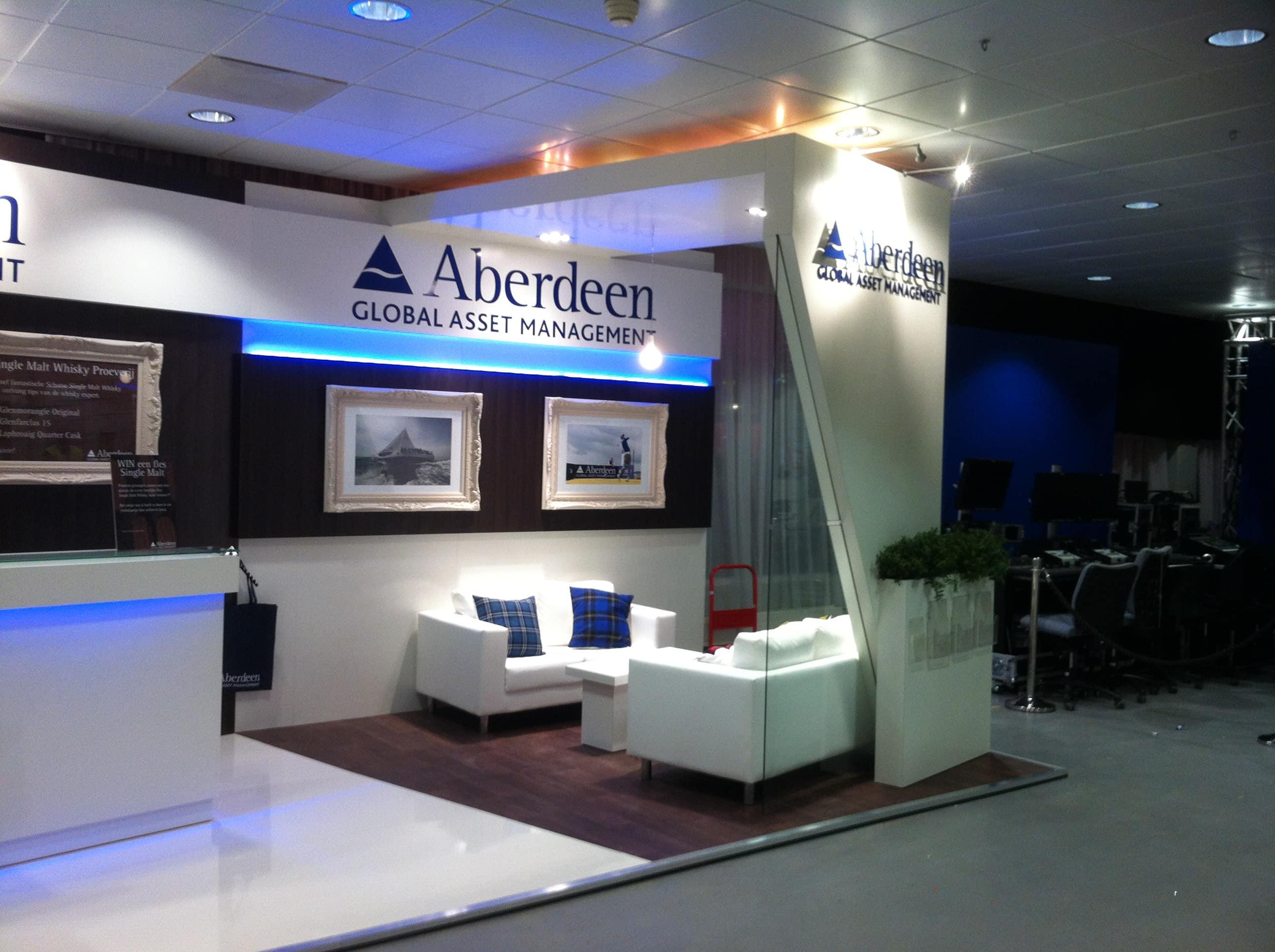 Exhibition Stand Builders Aberdeen : Aberdeen global asset management amsterdam display stand