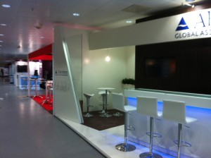Aberdeen Global Asset Management display in Amsterdam