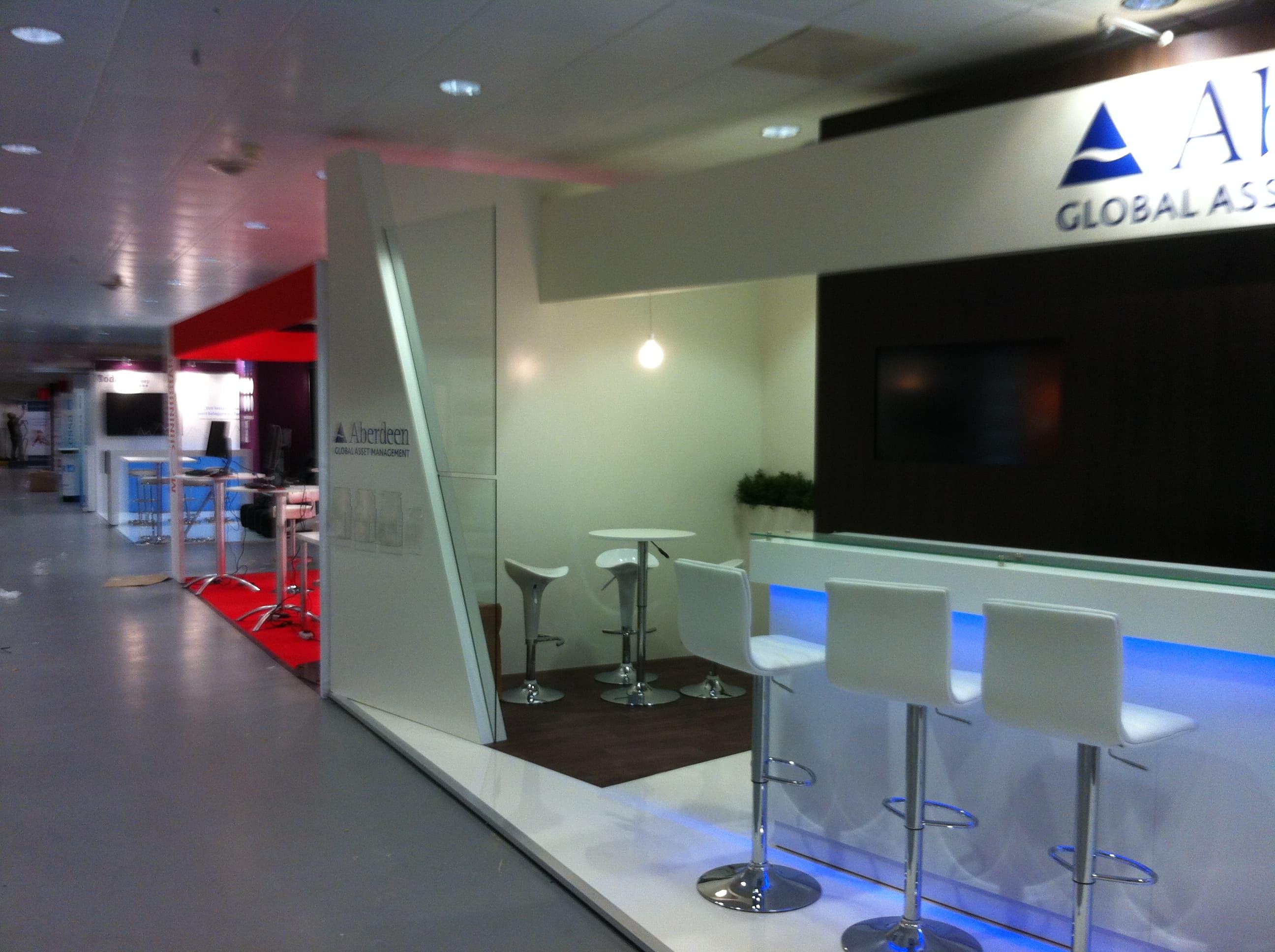Exhibition Stand Design Amsterdam : Aberdeen global asset management amsterdam display stand