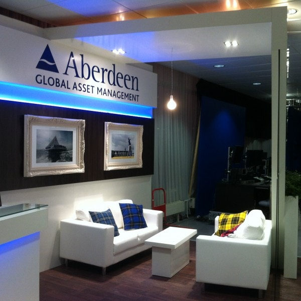 Aberdeen Global Asset Management display in Amsterdam