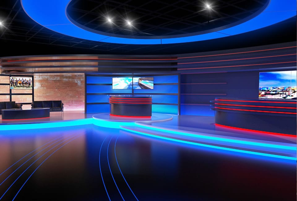 AZAM TV Studio Design