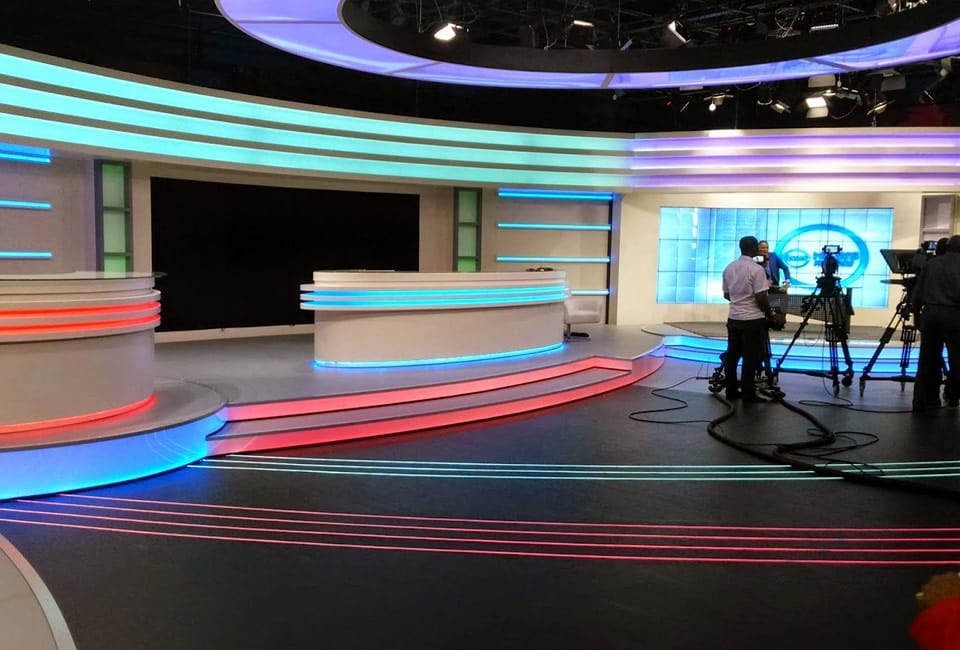 AZAM TV Studio Filming