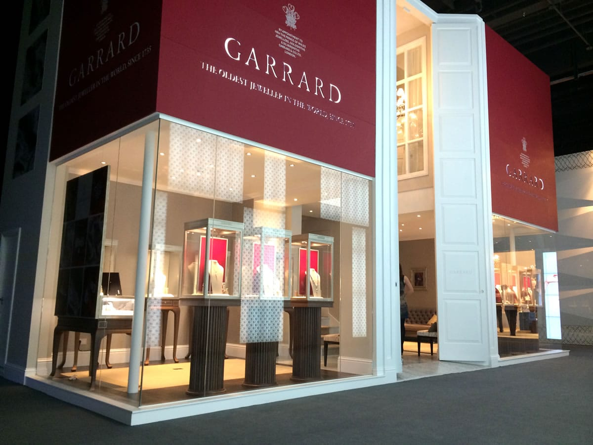 Jewelry Exhibition Booth Design : Garrard display stand for the baselworld show