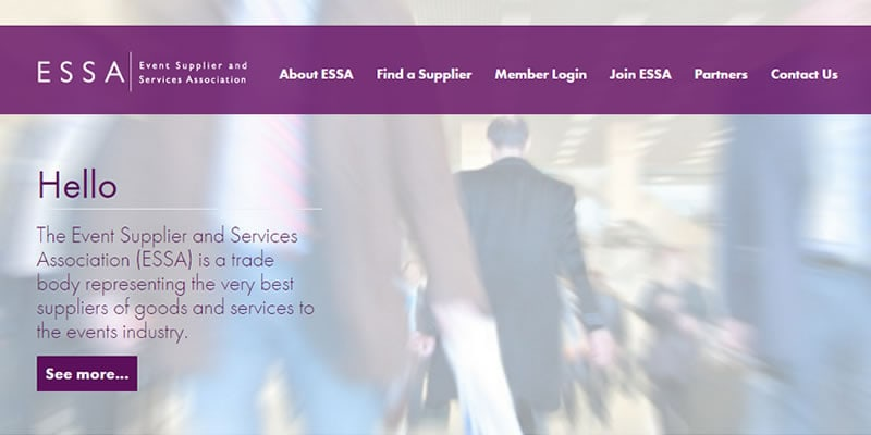 ESSA Web Site Screenshot