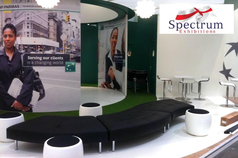BNP Paribas Exhibition Stand Seating