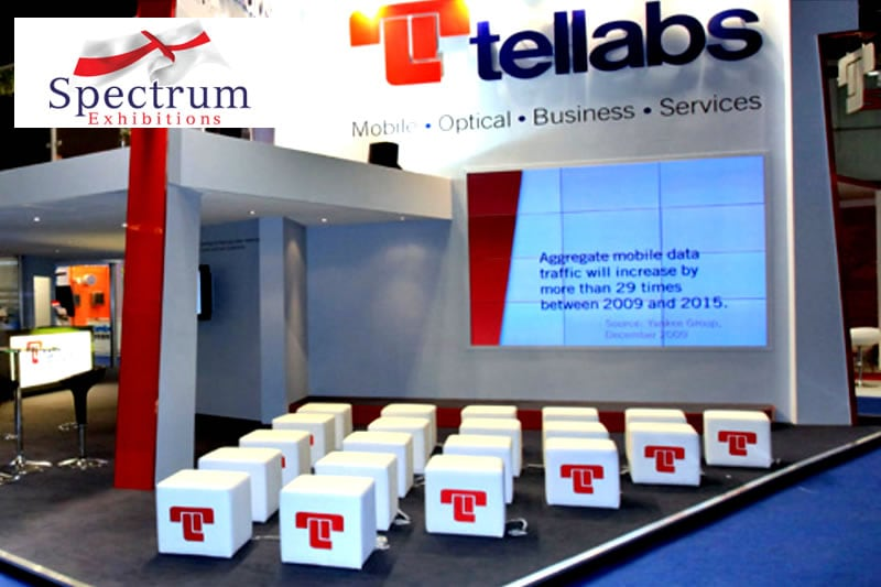 Tellabs Branded Exhibition Seating Example