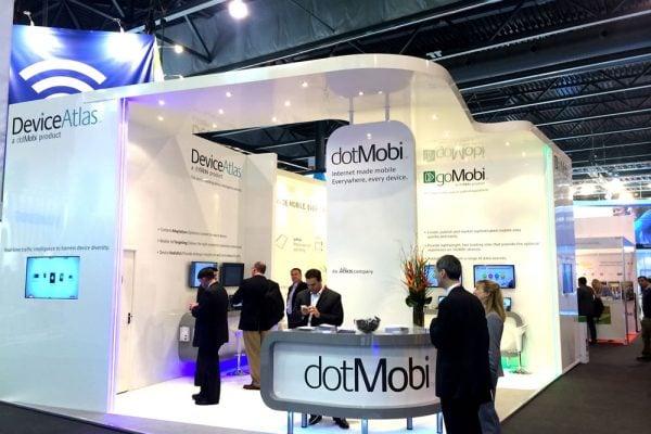 dotMobi exhibition stand for the Mobile World Congress, Barcelona