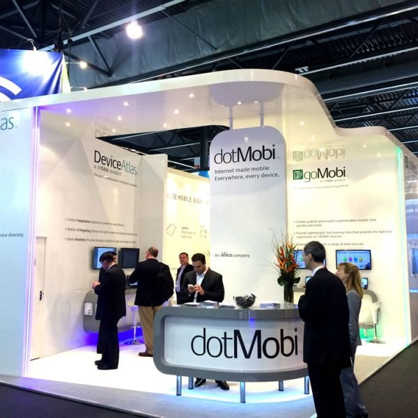 dotMobi exhibition stand for the Mobile World Congress, Barcelona