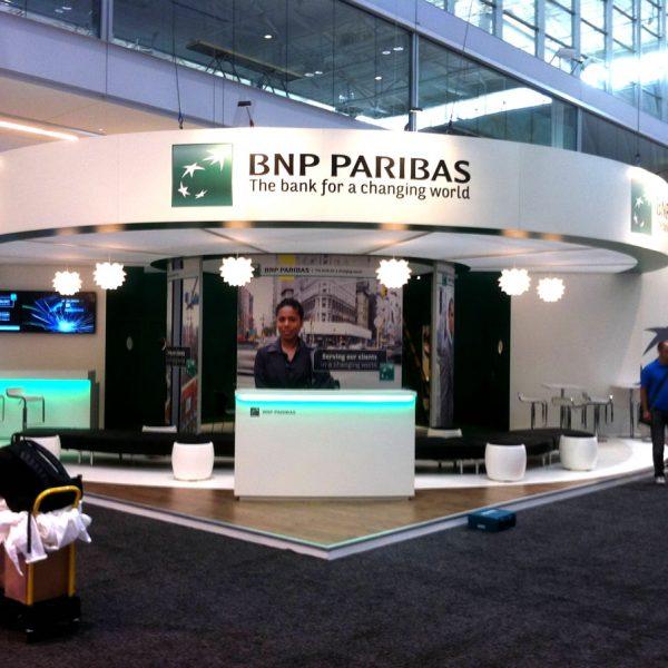 BNP Paribas Exhibition stand at Sibos, Boston, US