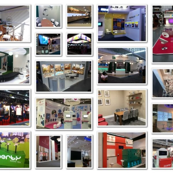 UK Exhibition Stand Design Collage