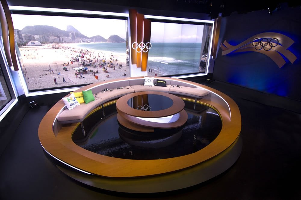 BBC Rio Olympics Studio shown from jib