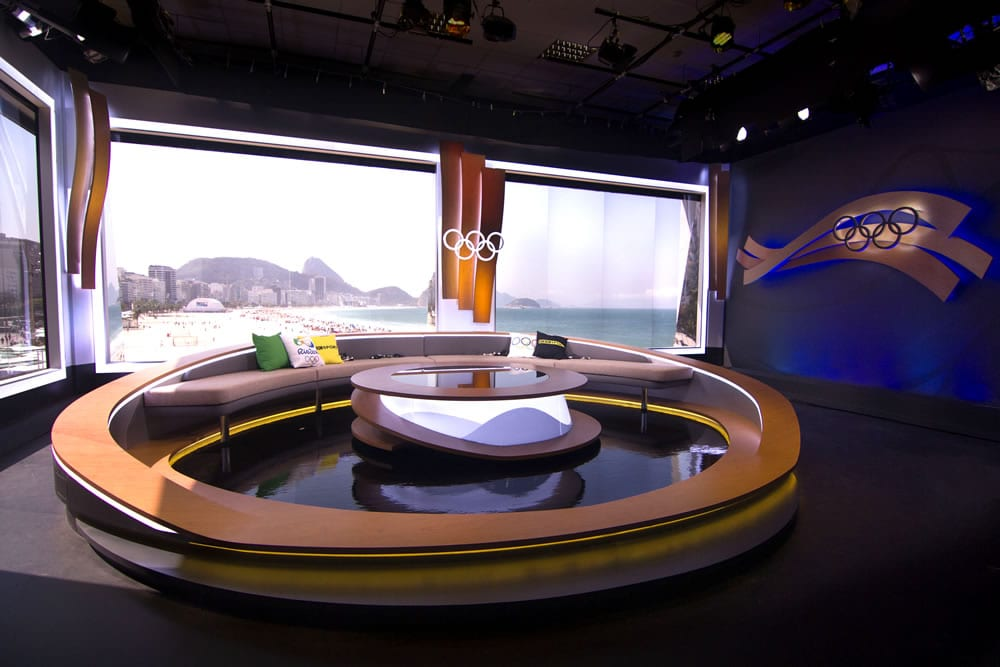 BBC Olympic TV Set Day