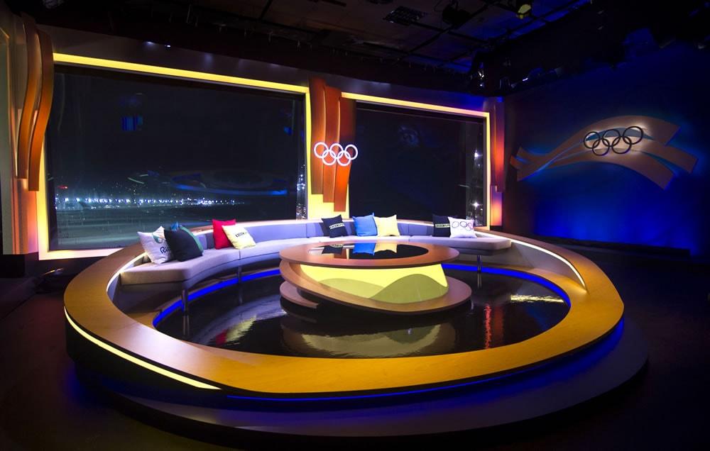 BBC Rio Olympics Studio Nighttime