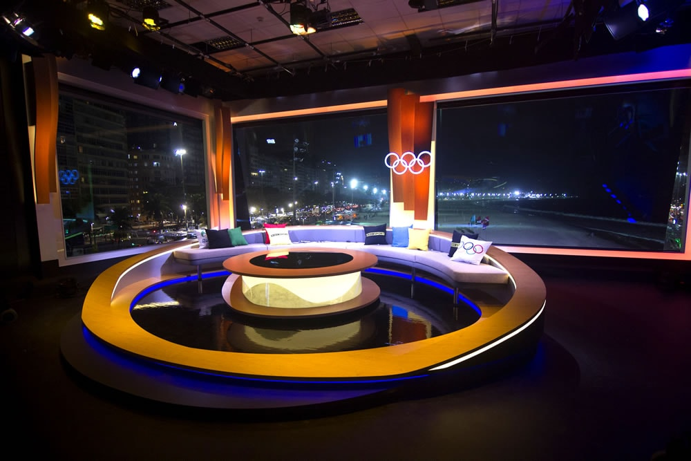 BBC Rio Olympics Studio Set at Night
