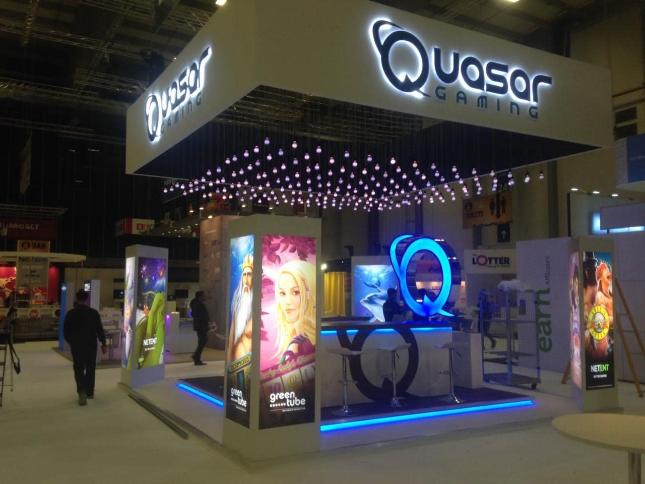 Quasar Gaming Exhibition Stand for BAC Show in Berlin