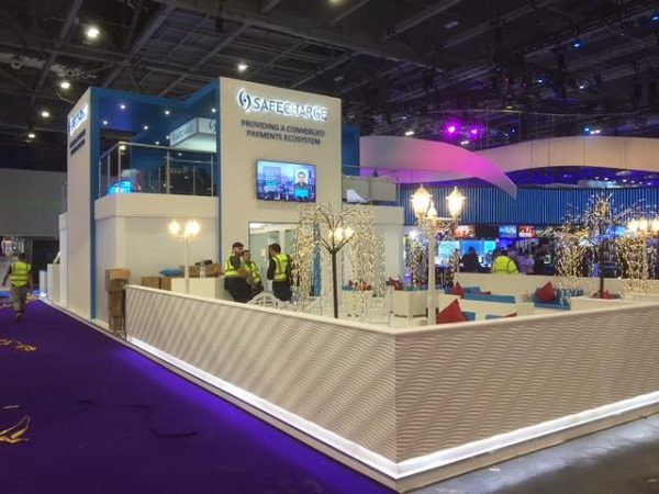 Safecharge Exhibition Stand for Ice Gaming Show, London ExCel