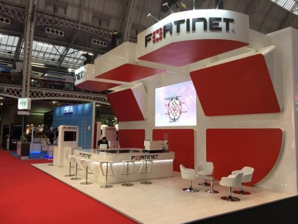 Fortinet Exhibition Stand for Infosecurity Show at London's Olympia